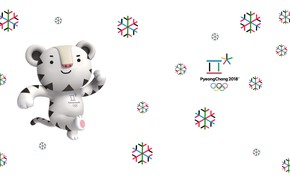 Picture White tiger, Soohorang, Saharan, Talisman, Pyeongchang, Olympic game