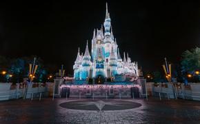 Picture The city, Castle, Park, Disneyland