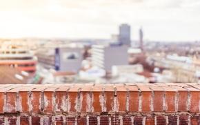 Picture the city, street, brick, balcony