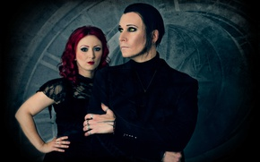 Wallpaper music, Chris Paul, Ulrike Goldmann, BlutEngel, Chris Pohl, group, Ulrike Goldmann, darkwave, Gothic