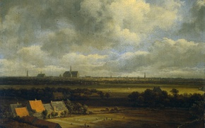 Picture landscape, oil, picture, canvas, Jacob van Ruisdael, View of Haarlem from the North-West