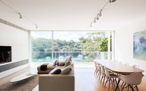 Picture design, interior, living room, dining room, Cammeray House