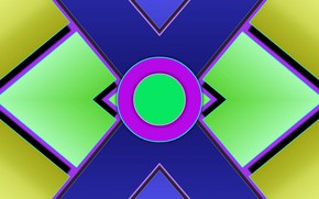 Picture figure, layers, symmetry