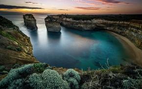 Picture Arch, Island, Sunset, Аustralia
