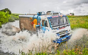 Picture Water, Grass, Sport, Speed, Race, Master, Dirt, Squirt, Russia, Kamaz, Rally, Rally, KAMAZ, Master, Ford, …