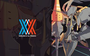 Picture girl, robot, anime, art, darling in the frankxx