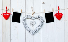 Wallpaper photo, holiday, Valentine's day, rope, heart