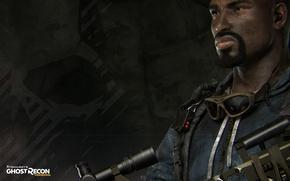 Picture gun, Ghost, soldier, weapon, man, sniper, rifle, Tom Clancy's, bulletproof vest, Weaver, Tom Clancy's: Ghost …