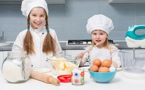 Picture girls, kitchen, cook, products