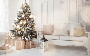 Picture decoration, toys, tree, New Year, Christmas, gifts, white, Christmas, design, Merry Christmas, Xmas, interior, home, …