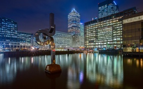 Picture night, lights, England, London, home