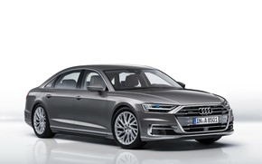 Picture Audi, Audi, white background, sedan