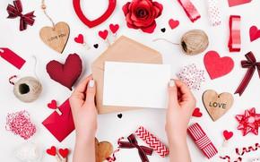 Wallpaper red, Valentine's Day, romance, hearts, hearts, love, gift, romantic, love, decoration