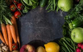 Picture greens, Vegetables, Background, fruit