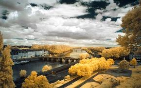 Picture landscape, France, infrared the, The promenade du BU du Monde, Angers