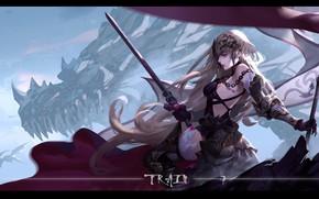 Picture girl, anime, art, Fate/Grand Campaign, Fate / Grand Order