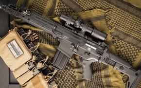Wallpaper weapons, SCAR, weapon, SCAR-H, assault rifle, machine, assaul rifle