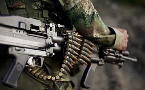 Picture gun, soldier, weapon, man, rifle, MAG, uniform, machine gun, ammunition, seifuku, FN MAG, FN MAG …