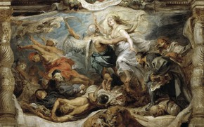 Picture picture, Peter Paul Rubens, mythology, Pieter Paul Rubens, The Triumph Of The Catholic Truth
