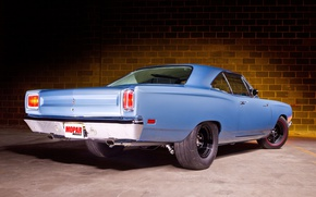 Picture blue, coupe, classic car, Plymouth Road Runner