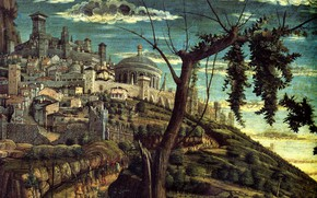 Picture Andrea Mantegna, 1459, The Prayer in the garden of Olives, Detail