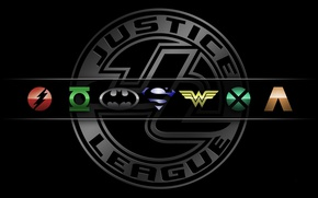 Wallpaper logo, Wonder Woman, Batman, bat, Green Lantern, heroes, Superman, hero, DC Comics, Cyborg, yuusha, The ...