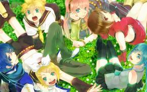 Picture music, girls, anime, art, guys, friends, Vocaloid, Vocaloid