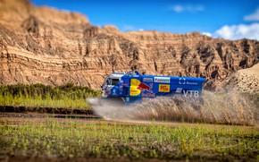 Picture Mountains, Sport, Speed, Truck, Race, Master, Squirt, Russia, Kamaz, Rally, Dakar, KAMAZ-master, Dakar, Rally, KAMAZ, …
