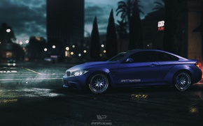 Wallpaper Night, BMW, Need For Speed 2015, NFSPhotosets, NFS, Night city