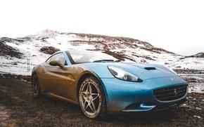 Picture auto, the sky, mountains, ferrari, Ferrari, sky, auto, the mountains