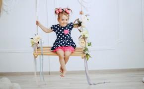 Picture joy, swing, girl, baby