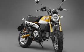 Wallpaper Honda, Yellow, 2018, Monkey, 125
