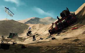 Picture the dunes, desert, destruction, desolation, Out of Map Bounds