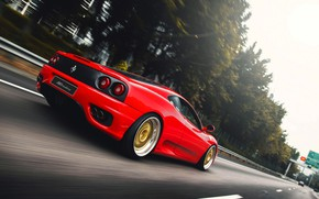 Picture Red, Auto, Road, Machine, Speed, 360, Supercar, Modena, Ferrari 360, Suspension, Ferrari Modena 360