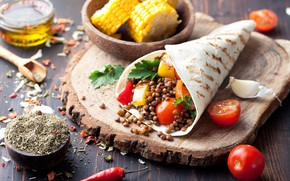 Picture tortilla, tomatoes, food, vegetables, pellet, corn, spices, mexican
