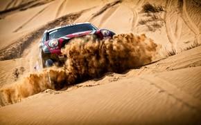 Picture Sand, Red, Auto, Mini, Sport, Speed, Race, Lights, Rally, SUV, Rally, Dune, X-Raid Team, MINI …