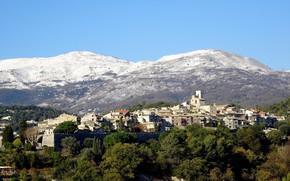 Picture landscape, mountains, France, home, Provence, Saint-Paul-de-Vence