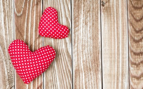 Picture hearts, red, love, wood, romantic, hearts, valentine's day