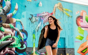 Picture summer, face, smile, model, hair, laughter, figure, legs, beauty, Monica