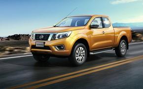 Picture road, Nissan, truck, pickup, Navara