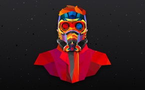 Picture color, abtract, star lord