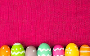 Picture colorful, Easter, spring, Easter, eggs, decoration, Happy, frame, the painted eggs