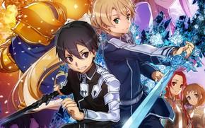Picture anime, art, guys, Sword art online, Sword Art Online