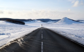 Picture winter, road, snow