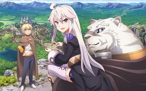 Picture tiger, anime, map, vegetation, strong, mercenary, novel, light novel, Albus, Zero Kara Hajimeru Mahou No …