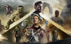 Picture the film, characters, 2018, poster, Avengers: Infinity War