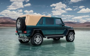 Wallpaper Clouds, Water., Mercedes-Maybach G 650 Landaulet, Rear view, The sky