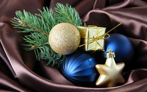 Picture balls, decoration, New year