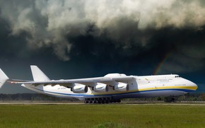 Picture Clouds, The plane, Clouds, Rainbow, Wings, Engines, Dream, Ukraine, Mriya, The an-225, Airlines, Soviet, The …