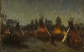 Picture night, Joseph Henry Sharp, Taos, Shadows in the Night